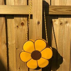 Nila Anthony yellow Sunflower daisy flower purse